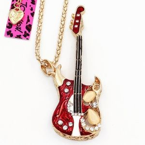 Accessories - Red guitar pendant